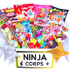 Japanese Sweets Chocolate Sparkling Candies Snacks 20pcs & Free NINJA STARS