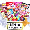 Japanese Sweets Dagashi Set Chocolate, Candy (20 pcs) & Free NINJA STARS