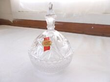 Anna Hutte Bleikristall Lead Crystal Covered Dish Candy Trinket W. Germany