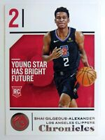 2018 18 Panini Chronicles Shai Gilgeous-Alexander Rookie RC #89, Clippers