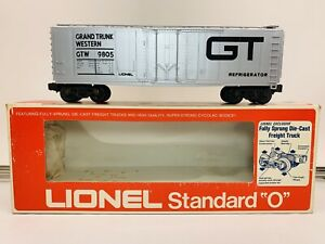 Lionel 6-9805 GTW REFRIGERATOR CAR Std-O Grand Trunk Western Reefer Vintage, NEW
