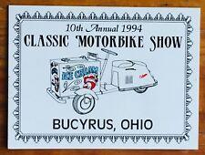 1994 USA motorbike show souvenir Cushman scooter ice cream cart 1952 Vespa