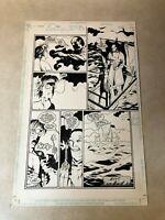 Books of Magic #36 original art Vertigo 1997 LAST PAGE key stolen freaks prisons