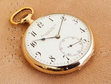IWC 14K Solid Yellow Gold International Watch Co antique Pocket Watch from 1911