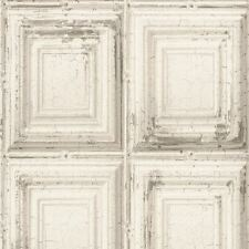 DISTRESSED WOOD PANEL WALLPAPER ROLLS - WHITE - RASCH 932614 NEW
