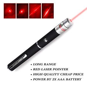 RED LASER Pointer Pen Light High Beam 1mW Premium Powerful Grade Animal Cat Dog
