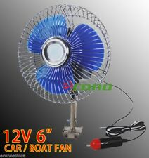 "12 Volt 6"" Auto Cooling Ocillating Air Fan For Truck Car Boat"