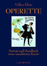 Operette von Volker Klotz (2016, Gebundene Ausgabe)