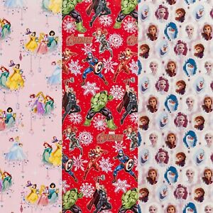4M Disney Avengers Frozen Movie Character Christmas Present Wrapping Paper Rolls