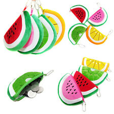1PC Plush Watermelon Card Key Money Coin Wallet Cosmetic Zipper Bag Purse Pouch