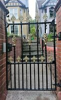 wrought iron gate single gate drive gate, pedestrian gate