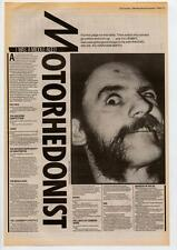 Motorhead Lemmy Interview NME Cutting 1984