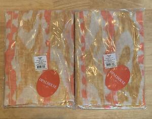 "95"" Opalhouse Set Of 2 Window Curtain Panels Warm Ikat Sheer Yellow 95 x 54"