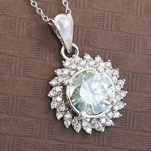 4.00 Carat Beautiful Off White Diamond Pendant with White Accents! WATCH VIDEO