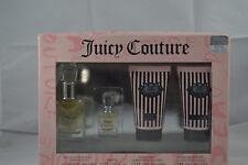 JUICY COUTURE 4 piece eau de perfum,perfume shower gel body lotion gift set bnib