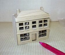 Miniature 1/144 Scale Natural Wood Dollhouse for DOLLHOUSE, Laser Cut Front