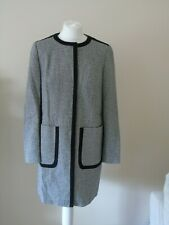 MARKS & SPENCER LADIES BLACK & WHITE COAT SIZE 10 M&S COLLECTION