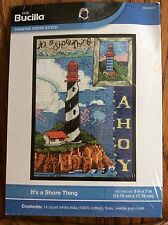 Bucilla It's A Shore Thing Counted Cross Stitch Kit New WM46047 Lighthouse
