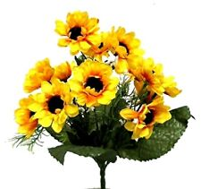 14 Mini Artificial Sunflowers Fake Silk Flower Bouquet Table Centerpiece Wedding