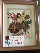 Dakota Prairie Picture Vintage Pheasant Feathers  June Grass Love Grass 9 X 7