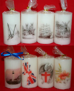 Picture Art Pillar Candle English Landmarks and History - Great Gift Idea