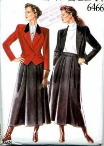 Cut Sewing Pattern Ladies Side Zipper Skirt Waist Length Jacket Size 8-10