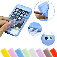 For iPhone 4S Clear Silicone Skin Case Transparent Soft Gel 360 Cover Ultra Thin
