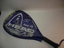 """HEAD FURY XL, Racquetball Racquet, Alloy, 3-5/8"""" Grip, With Cover,"""
