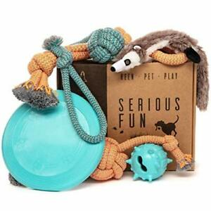 Dog Toys Set - Gift Pack of 6 - Interactive Boredom Relief Toy