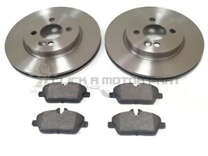 MINI R56 ONE COOPER 1.6 2006-2013 FRONT 2 BRAKE DISCS AND PADS CHECK SIZE CHOICE