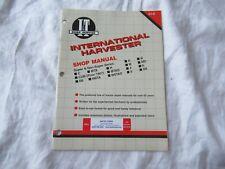 International Farmall A B C MTA H M MD CUB W6TA tractor service shop manual