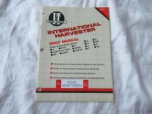 International Farmall A B C MTA H M MD CUB W6TA tractor service shop manual