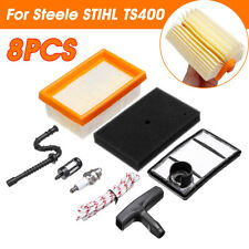 8PCS Mower Filter Accessories Service Kit Tools Set Air Replacement For TS400 <