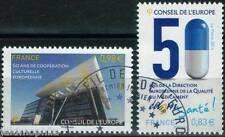 SERVICES CONSEIL DE L'EUROPE n° 159 - 160 de 2014  OBLITÉRÉ 1er jour