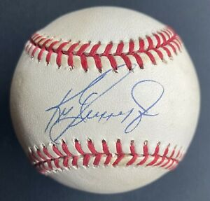 Ken Griffey Jr Single Signed Baseball Autographed Ball 1990s Seattle Mariners