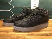 Nike Air Force 1 Mid 07 LV8 Mens 804609-005 Black Silver White Shoes Size 8.5