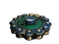 Bike Chain Fidget Hand Spinner Finger Toy Focus Gyro - Green/Blue