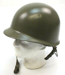 US ARMY / BELGIAN M1 STEEL HELMET WITH NEW INNER LINER