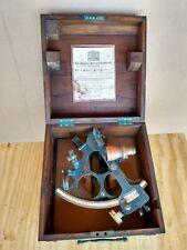 Vintage Brass Mariner's Navigational Sextant by Henry Hughes & Son, Ltd. London