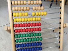 Wooden Abacus 35cm x 40cm good condition