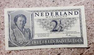 Olanda banconota 2 1/2 gulden 1949 papermoney