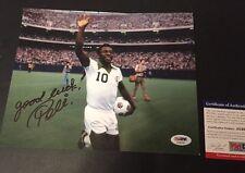 "Pele' Signed Photo Brazil Football Soccer Pele Olympics 8""x10"" Olympian PSA"
