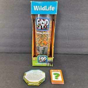 Find It A Contained Adventure Wildlife Identity Games Elephant Orange in Box HTF