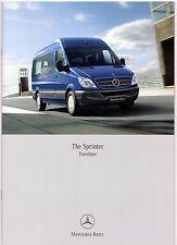 Mercedes-Benz Sprinter Traveliner 2007 UK Market Sales Brochure 311 315 4x4