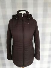 LANDS END - Padded Puffer Coat Removable Hood Brown Size S 10