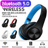 Wireless bluetooth 5.0 Headphones Foldable Earphones Super Bass Headset With Mic