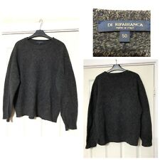 Di Ripabianca 100% Wool Jumper Pullover Grey Mens Size 50 (B73)