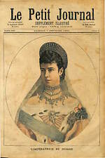PORTRAIT Empress Alexandra Feodorovna TSARINE RUSSIE RUSSIA 1891