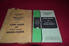 John Deere 110 Forage Wagon Operator's Manual BVPA