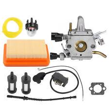Carburetor Ignition Coil Air Filter Fuel line For Stihl FS120 FS200 FS250 FS300